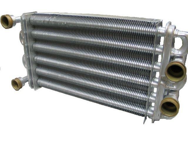 Битермальный теплообменник двухконтурного газового котла