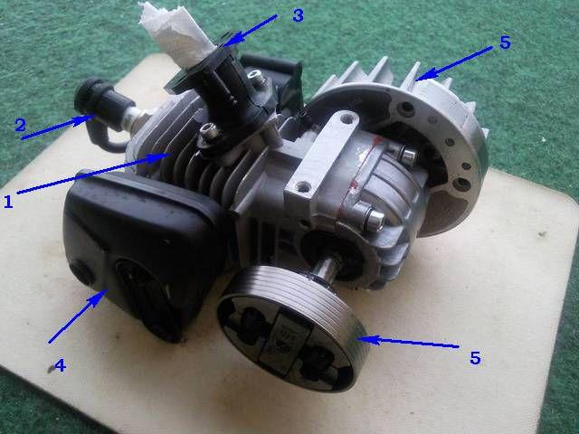 Двухтактный двигатель бензопилы