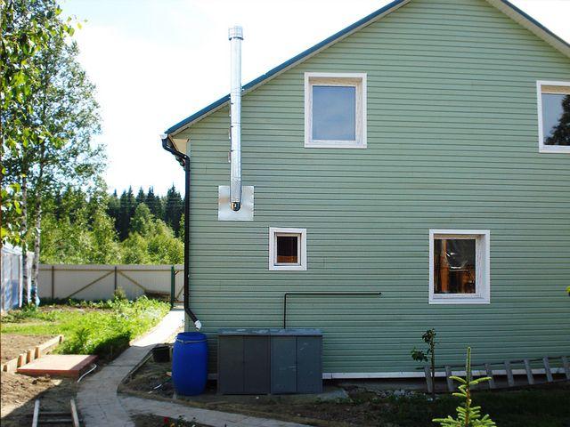 Котлы с открытой горелкой требуют сооружения высокого дымохода для поддержания естественной тяги