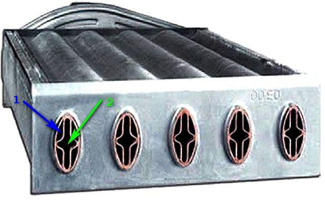Строение каналов битермального теплообменника