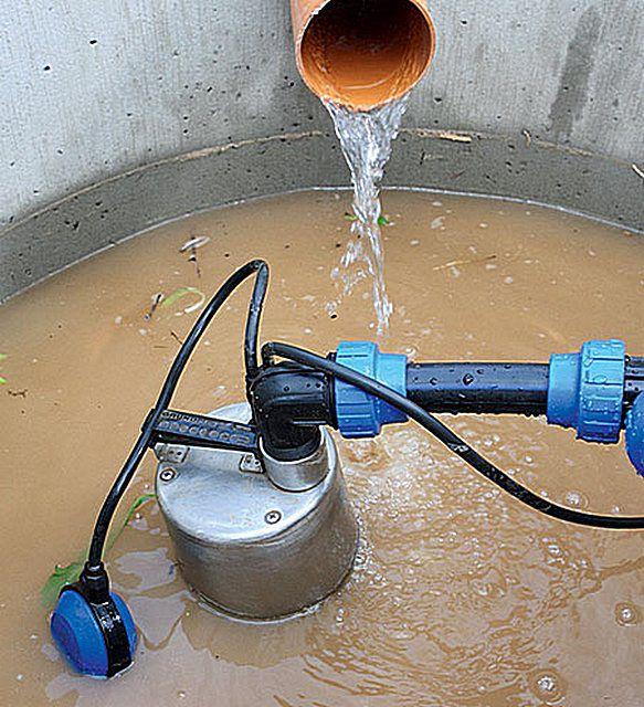 Многие модели дренажных насосов способны справиться с сильно загрязненной водой