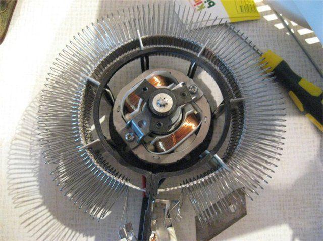 Обычно спираль располагается по окружности вокруг электропривода