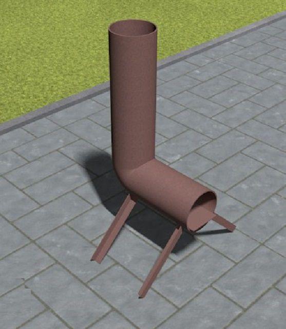 Самая простейшая конструкция ракетной печки