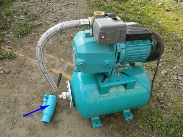 Внешний эжектор позволяет производить забор воды с куда более значительных глубин