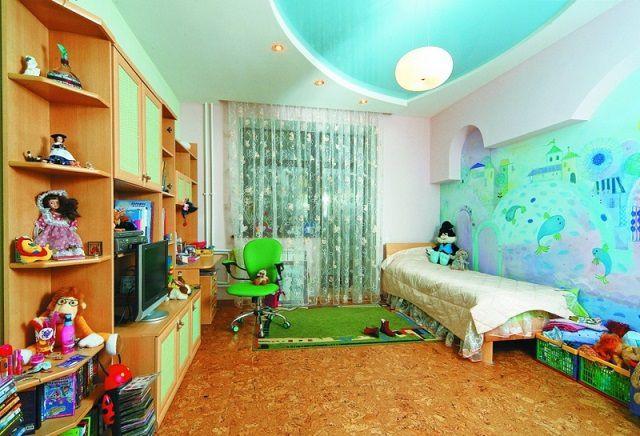 Детскую комнату хочется сделать яркой и жизнерадостной. Однако, во всем нужна мера