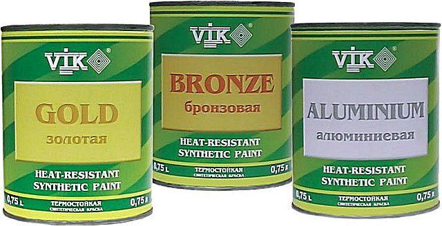 Термостойкие краски с наполнением из металлической пудры