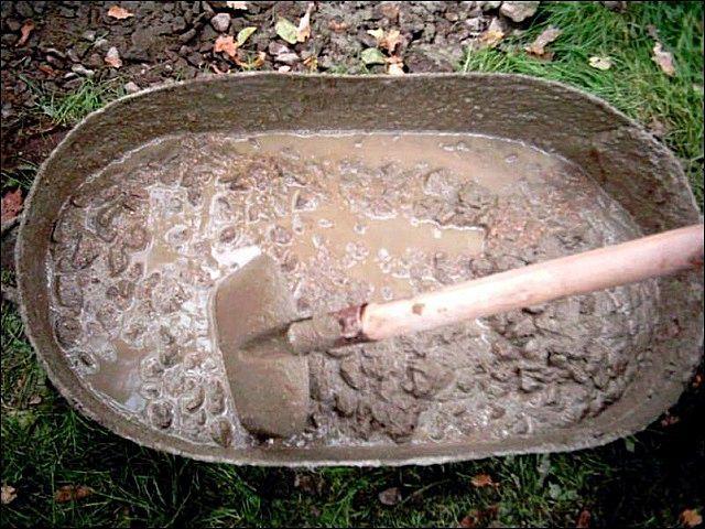 Предварительное замачивание глины