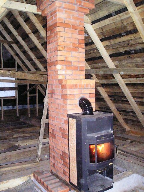 Железная печка с кирпичным дымоходом как расположить вентканал и дымоходы