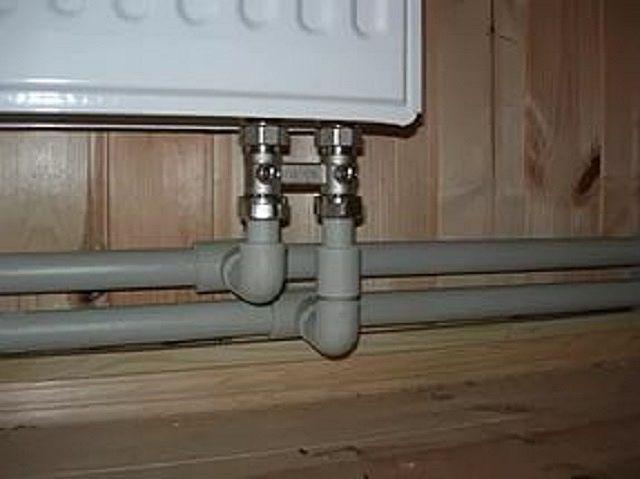 Нижнее подключение панельного радиатора