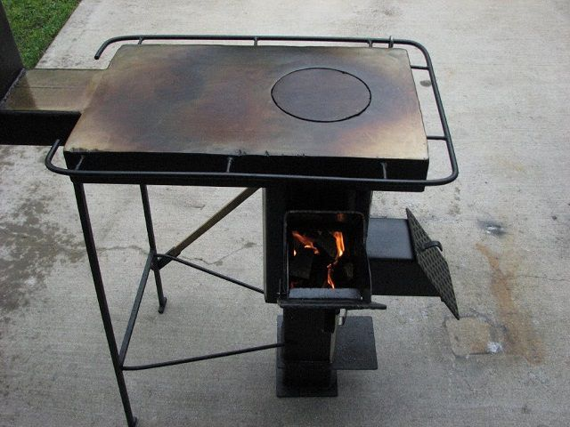Усовершенствованная ракетная печка с варочной панелью