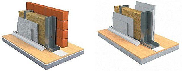 Варианты использования звукоизоляционных волокнистых материалов в стеновой конструкции