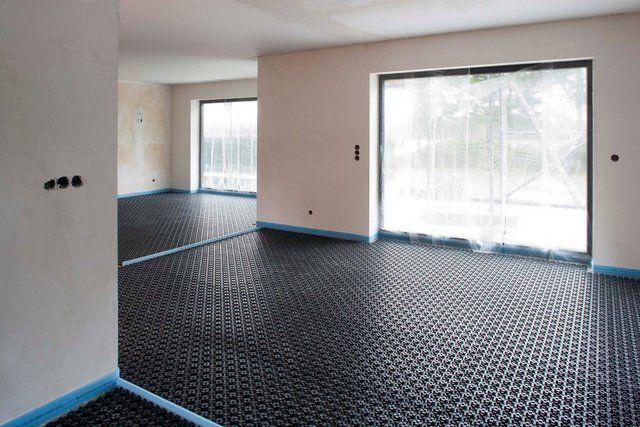 Демпферная лента по периметру помещения и на деформационных разрывах