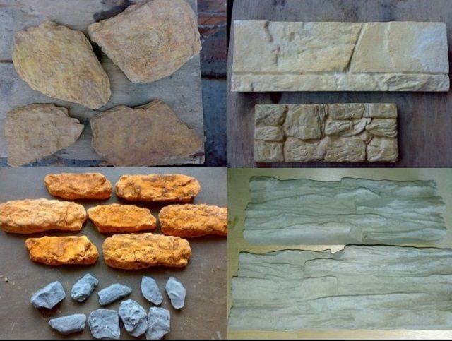 Различные типы искусственных камней
