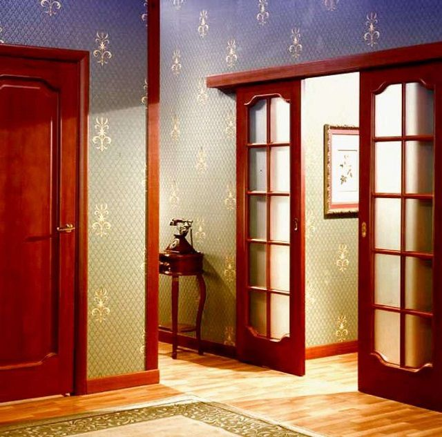 Раздвижные двери на роликах своими руками