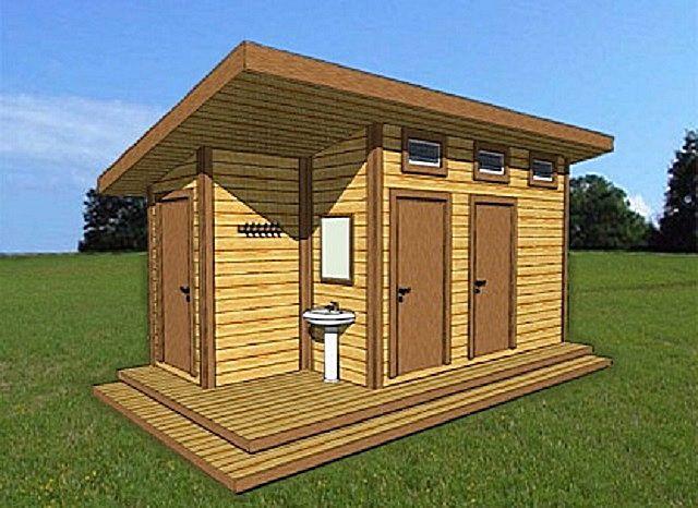 Комплексное решение - туалет, летний душ и хозяйственная подсобка