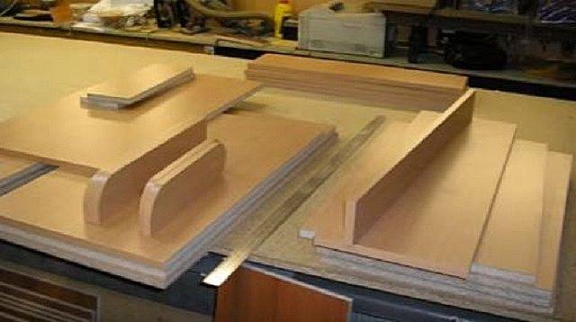 Детали для откидной конструкции столешницы