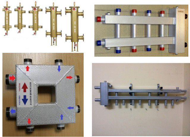 Разнообразные варианты гидравлических разделителей заводского изготовления