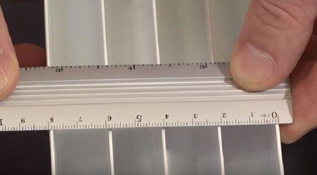 Оптимальные глубина и ширина секций - около 80 мм