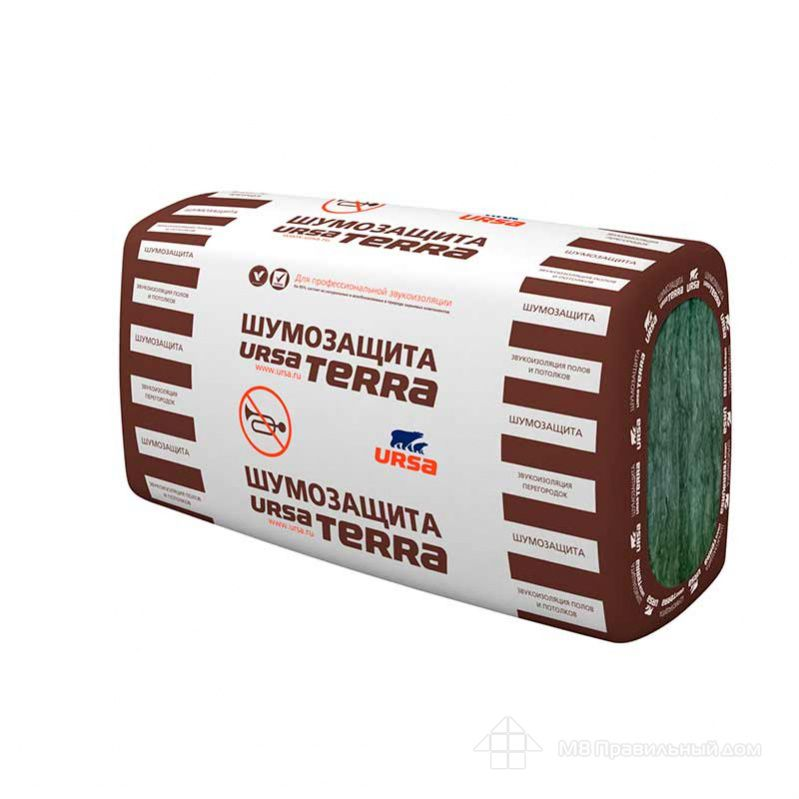 «URSA TERRA 34 PN Шумозащита» - оптимальный материал для внутренних перегородок