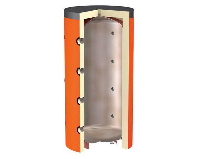 Теплоаккумулятор с прямым подключением контуров выработки и потребления тепловой энергии