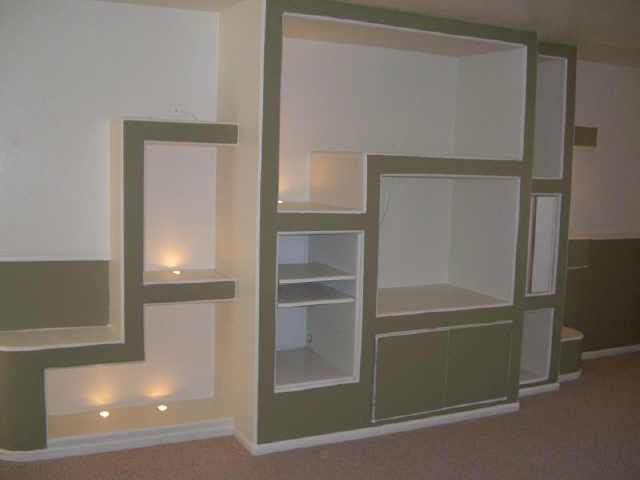 Оригинальный шкаф, сооруженный из гипсокартона