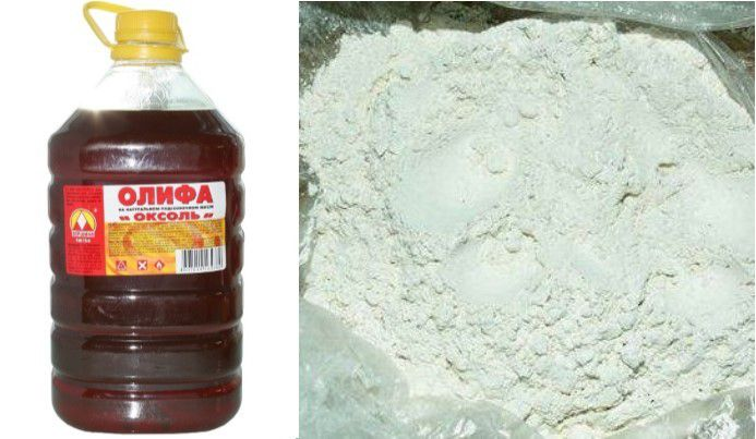 Народный способ «лечения» мелких дефектов шифера – смесь олифы и мела