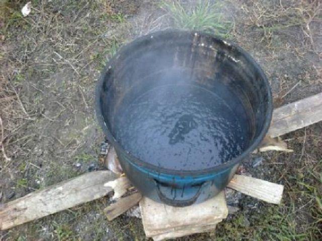 Подготовка битума для горячего нанесения