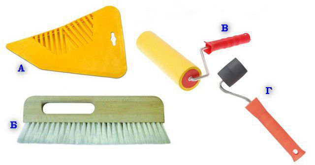 Инструменты для разглаживания обоев и удаления воздуха и излишков клея