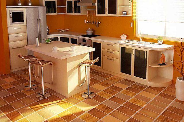 Напольное покрытие для кухни что выбрать
