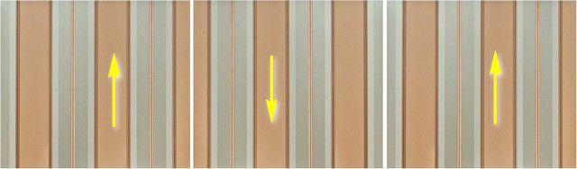 Пример наклеивания полотен обоев с реверсивным рисунком