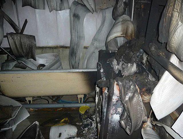 Печальные последствия резкого перепада напряжения – возгорание стиральной машины с последующим пожаром