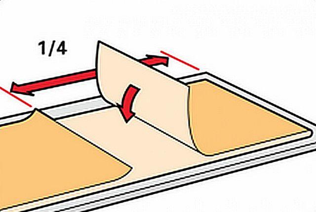 Как советуют складывать обои после промазывания клеем