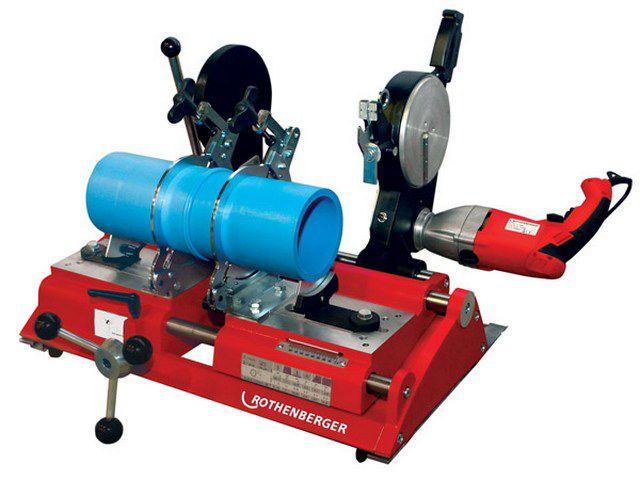 Один из аппаратов для стыковой сварки полимерных труб
