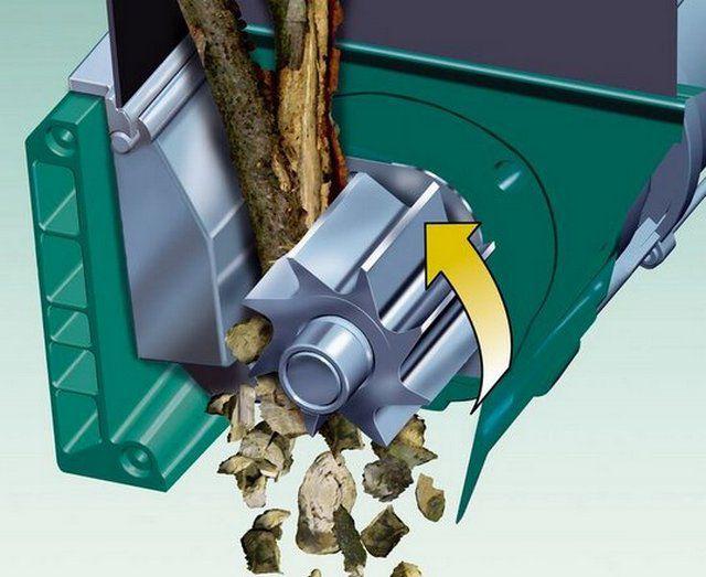 Шестерня-фреза способна справиться с твердыми древесными отходами