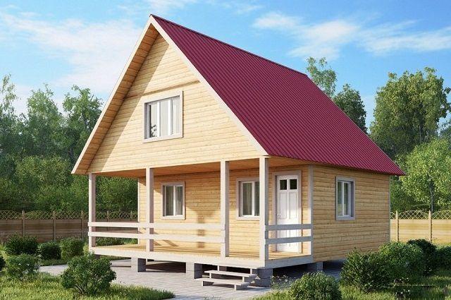 Двускатная крыша относится к числу наиболее распространенных конструкций