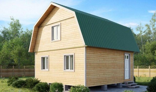 Крыша ломаного типа обычно делается под жилую мансарду
