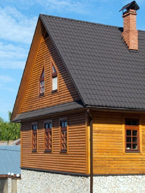Простейший вариант двускатной крыши – симметричные скаты
