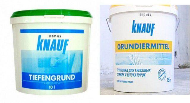Грунтовки «Tiefengrund» и «Grundiermittel»для предварительной подготовки поверхности под «теплый пол»