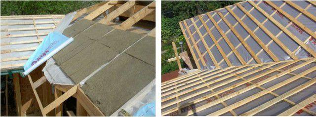Разные подходы к работе: сначала утепление, а потом гидроизоляция (слева), или наоборот (справа).