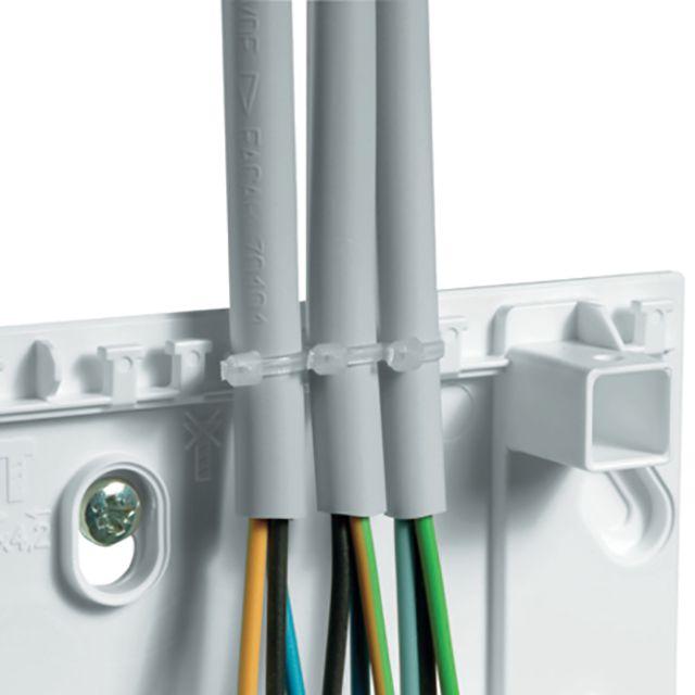 Фиксация кабелей на входе в хороший щиток