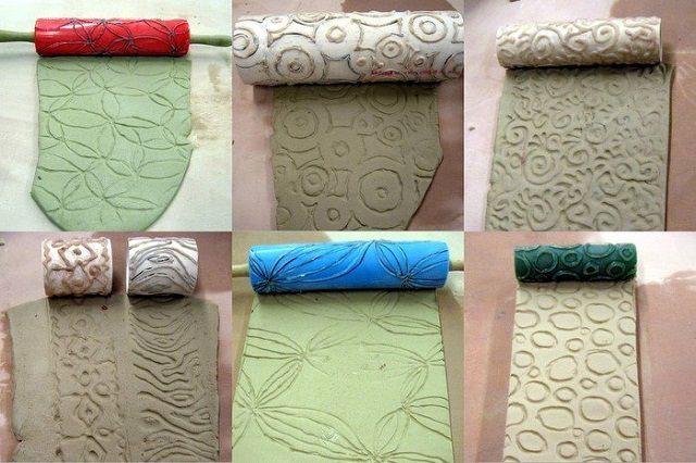 Разнообразие валиков для придания оштукатуренной стене рельефности