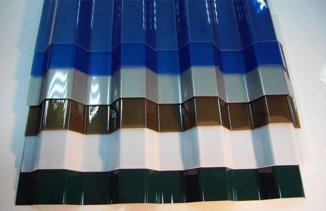 Листы шиферного покрытия из поликарбоната
