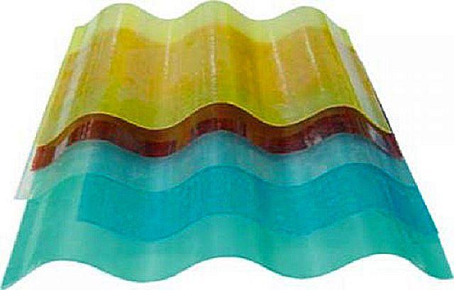 Волнистые листы армированного стеклопластика