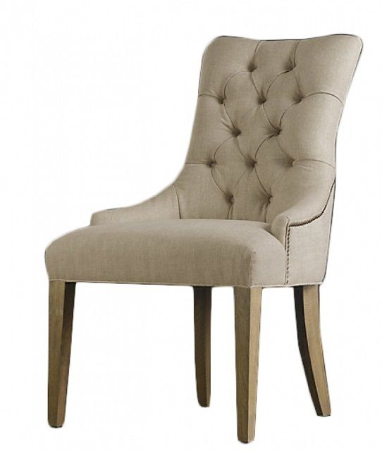 Стул-кресло с мягкой тканевой обшивкой