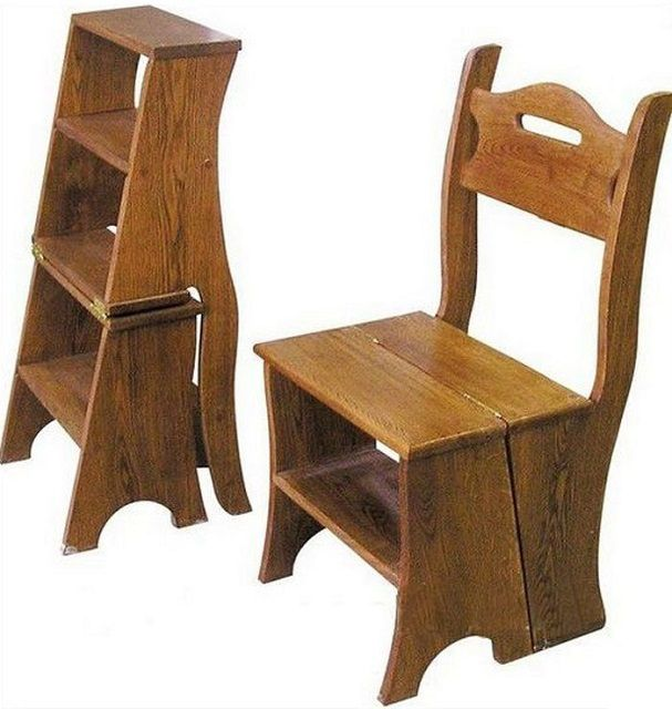 Такой стул-стремянка будет очень полезен в хозяйстве