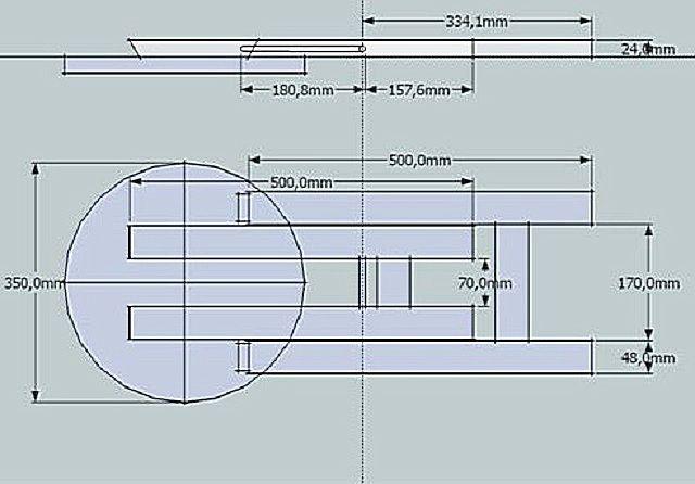 Чертеж представлен в двух проекциях, поэтому на нем легко можно определить параметры всех деталей и расстояния между ними.