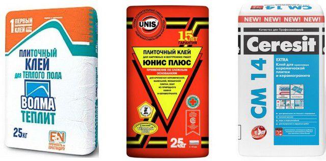 Популярные марки клеевых составов для керамической плитки, адаптированных к «теплым полам»