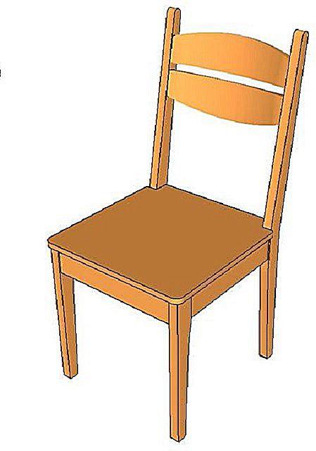 Попробуем собрать классическую модель стула