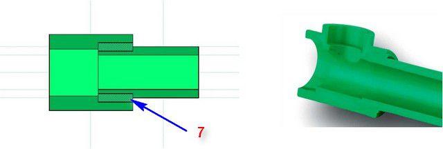Принцип муфтовой сварки ПП-труб, схема №4