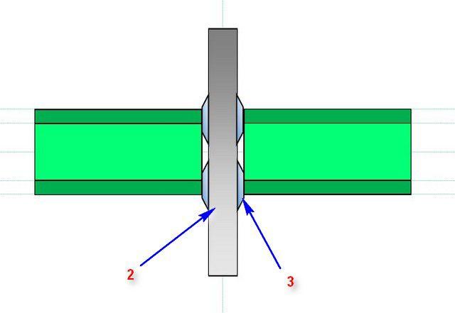 Принцип стыковой сварки ПП-труб, схема №2